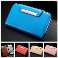 10pcs/lot FASHION Wallet PU Leather case for iPhone 5 5S 5g Stand cover Luxury with Card Holder New Arrival+ 9 Colors