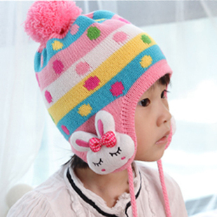 2013 child cap autumn and winter hat ear protector cap candy ear protector cap set nm079