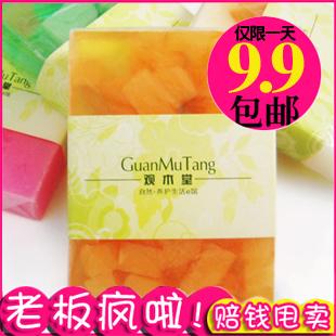 Wood natural fruit soap papaya professional whitening rejuvenation soap 80g handmade essential oil soap