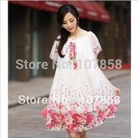 Wholesale -- 2014 New Summer Chiffon Casual Short sleeved Maternity dress Pregnant women Skirt Maternity Clothing #YZ407