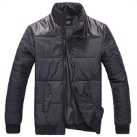 Jvr2012 men's clothing autumn and winter outerwear wadded jacket male casual male cotton-padded jacket the trend of patchwork