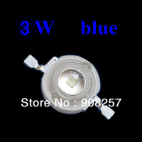 free shipping 50pcs 3W blue Bead Lamp LED Without board Star HIGH POWER 170LM 140 degree light DIY