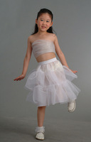 Wholesale Wedding Bridal 1 hoop Flower Girl dress petticoat crinolines slips