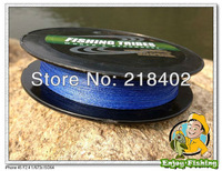 free shipping-   100% dyneema PE  braided fishing line8LB10LB15LB20LB30LB40LB50LB blue 300yards 250m