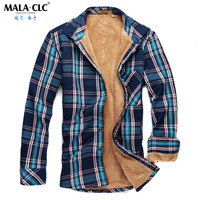 Winter thermal shirt collar male long-sleeve shirt thickening wadded jacket fashionable casual men's clothing