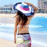 Strawhat beach women's sun hat female summer ultraviolet strawhat female summer