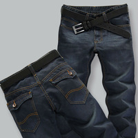 Free shipping 2013 New Men's Jeans Slim Fit Straight Trousers Zipper Style DropShipping S03020011