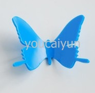 Free shipping  (10 pcs / pack ) DIY 3D Wall Sticker butterfly Home Decor Room Decorations Decals Color Blue