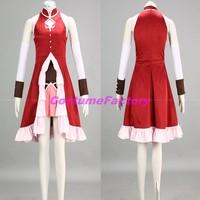 Free Shipping Custom Made Puella Magi Madoka Cosplay Sakura Kyoko Dress Costume,1.5kg/pc