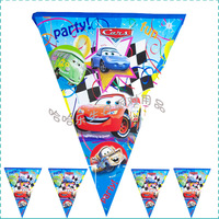 Birthday horizontal stripe banner triangle flag birthday decoration props birthday supplies car