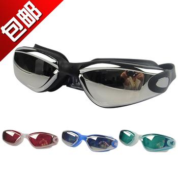 free shipping 2013 swimwear high antimist plastic definition goggles waterproof anti-fog uv eyewear swimming glasses women men