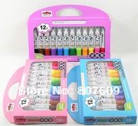 Magic pens in 12 color wet wipe graffiti document magical watercolor brush baby drawing pen toys