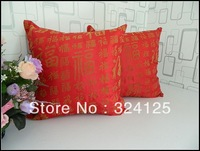 "Wholesale Free Shipping 5pcs chinese Red pillow cover Cushion cases 18 "" 45X45CM"