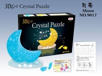 3D DIY Crystal Moon Kids Blocks Gift Home Decoration Children Education Toy Try Your Patience