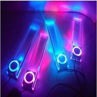 Hot sale Car Charge Glow Interior inner Decorative Blue led light Car atmosphere lamp decoration cigarette floor light