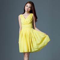 FREE SHIPPING Female 2013 summer chiffon one-piece dress plus size summer chiffon dress