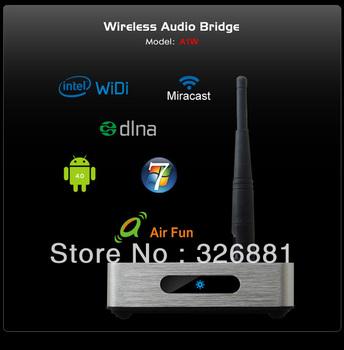 Wireless Audio Bridge  widi  miracast dlna AIR FUN  A wireless signal transceiver A1W Wireless Audio Bridge Free shipping