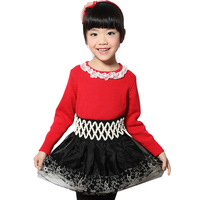 MICKEY children's clothing female child 2013 spring child all-match high waist pleated bust skirt puff skirt