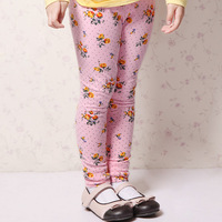 MICKEY children's clothing female child 2013 spring child print casual all-match legging skinny pants
