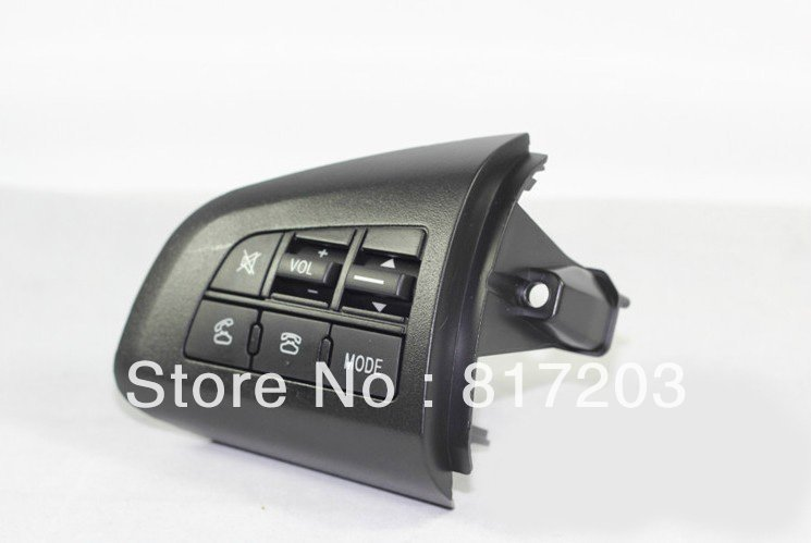 Free shipping 2010-2012 Mazda 3 High quality Steering wheel Audio and channel and bluetooth control button(China (Mainland))