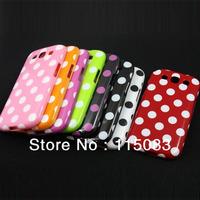Wholesale 100pcs/lot Soft Gel Polka Dot Skin TPU Case For Samsung Galaxy S3 I9300, DHL Free Shipping, Dot case for i9300