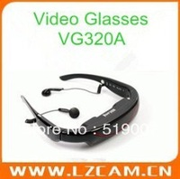 "72"" Wide screen Virtual LCD Display with 4GB memory built-in Video Glasses VG320A ,Free shiping"