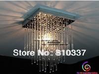 20cm Led Crystal Ceiling 1 Light Fixture Pin Lamp Lighting Prizm Chandelier