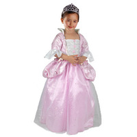 12019 female child one-piece dress performance wear birthday gift pink brocade princess dress