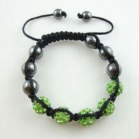 Free Shipping wholesale Shambala Charm Disco Ball Bead Bracelet New T-Paris Shambhala Rhinestone Crystal Fashion Jewelry