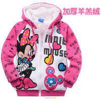 Best Quality Best Price New Arrivals Girl's winter Parkas 100% Cotton MINNIE  berber fleece thickening wadded jacket outerwear