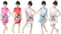 Free Shipping Chinese Traditional Kids/ Children Qipao Cheong-sam Very China Dress