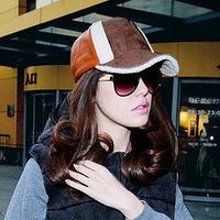 Free ship Topcul spring baseball cap PU hat cap male cap women's cap
