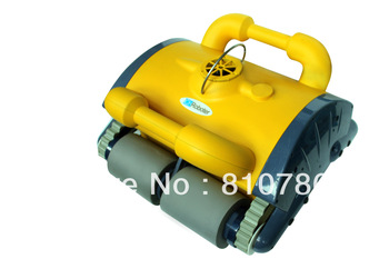 Swimming Pool auto cleaner With Spot Cleaning, Wall Climbing+Remote Controller+15m Cable+Working Area:100m2-200m2