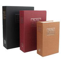Bookshelf gold box books piggy bank mini safe box