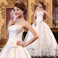 Bride 2014 princess lace wedding dress quality fashion tube top wedding dress formal dress