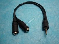 3.5mm Male to 2 RCA Female Earphone Audio Splitter for iPod Stereo Headphone Y Splitter Cable