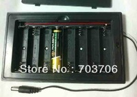 8 X AA Battery Holder 12V with lid , switch and DC connector