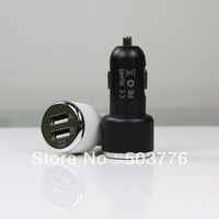 Free shipping ! hotsales Dual USB Car Charger with PE bag