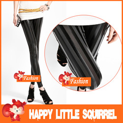 2013 New Style Fashion Striped slim lady Punk Leggings women tights printed leggings cheap legging pantyhose pants trousers Hot(China (Mainland))