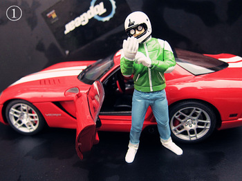 Figure stig model autoart kyosho Without the car