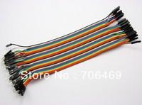 Wholesale 5x40pcs=200pcs 20cm MALE TO FEMALE Solderless Jumper Breadboard Wires