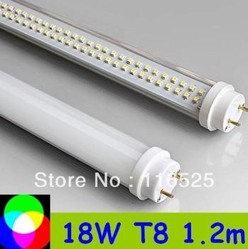 10pcs/lot T8 LED Tube 1200mm Light 18W SMD288pcs Warm White/Cool White 1800lm PC Cover Free shipping