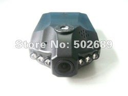 Car black box with 6 IR Led night vision video recorder free shipping H198(China (Mainland))