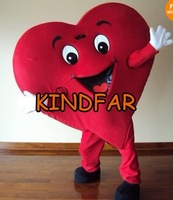 Red Heart Adult Mascot Costume For Valentine's day Adult Size Fancy Dress Cartoon Outfits Suit
