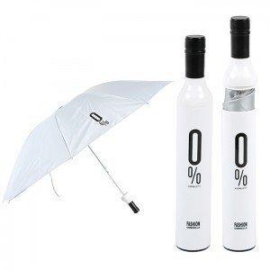 2012 new novelty winebottle shape cute cartoon rain umbrella retail packing