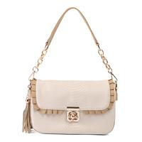 2014 New Arrival women's handbag embossed soft tassel genuine leather cowhide shoulder handbag sling bag