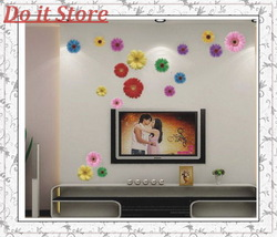 [ Do it ] All kind of flowers Make the World Malaysia Best Selling Art Decals ,Removable Wall Stickers,100pcs/Lot,50X70 CM(China (Mainland))