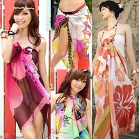 All-match mantillas bikini mantillas beach towel big measurement swimwear yarn silk scarf
