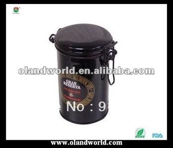 Professional Round Metal Tea Tin Box/can with Hinge, Tin Can