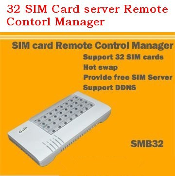 32 SIM Card server Remote Contorl Manager/ convert the communication between the SIM card and the SIM connecting device(China (Mainland))
